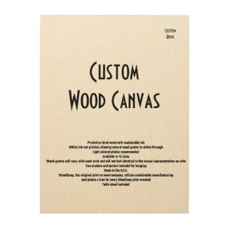 Custom Home Wood Canvas