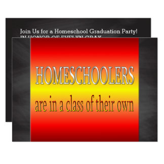 Custom Homeschoolers Graduation Party | Chalkboard Card