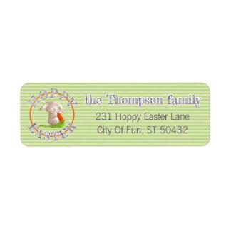 Custom Hoppy Easter Bunny Stripes Plaid Pattern