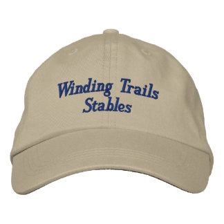 Custom Horse Equine Boarding Stable Business Embroidered Hats
