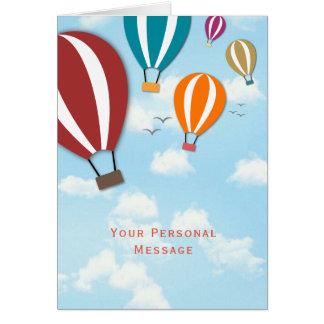 Custom  Hot Air Balloons | Greetings Card