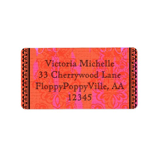 Custom Hot Pink Swanky Bachelorette Adhesive - Address Label
