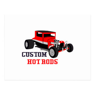 Custom Hot Rods Postcard