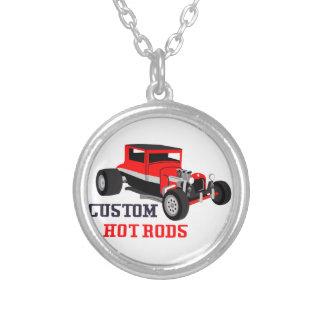 Custom Hot Rods Round Pendant Necklace