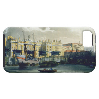 Custom House from the River Thames, from Ackermann iPhone 5 Case
