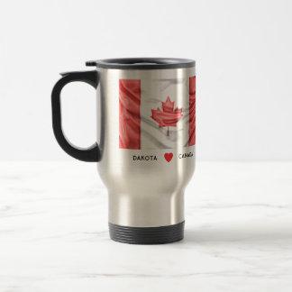 Custom I Heart Flag of Canada Travel Mug