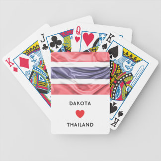 Custom I Heart Flag of Thailand Bicycle Playing Cards