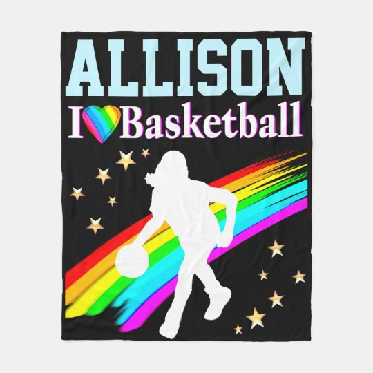 CUSTOM I LOVE BASKETBALL FLEECE BLANKET