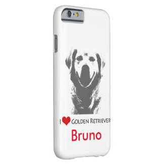 Custom I Love Golden Retriever iPhone 6/6s Case Barely There iPhone 6 Case