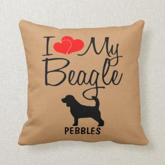 Custom I Love My Beagle Cushion