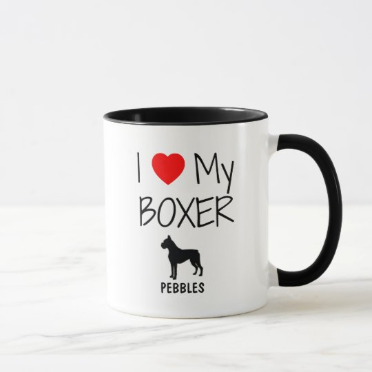 Custom I Love My Boxer Mug