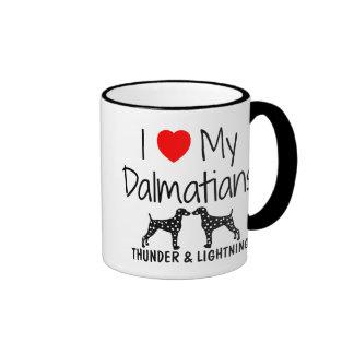 Custom I Love My Dalmatians Ringer Mug