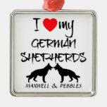 Custom I Love My German Shepherd Christmas Ornaments