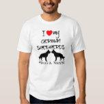 Custom I Love My German Shepherds Tshirts