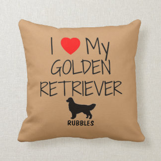 Custom I Love My Golden Retriever Cushion