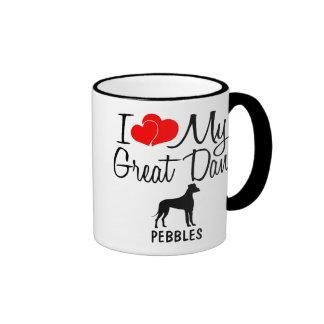 Custom I Love My Great Dane Mug