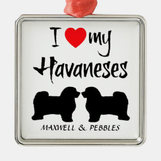 Custom I Love My Havaneses Christmas Ornament