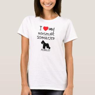 Custom I Love My Miniature Schnauzer T-Shirt