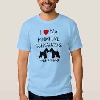 Custom I Love My Miniature Schnauzers T Shirts
