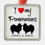 Custom I Love My Pomeranians Ornament