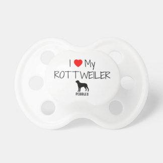 Custom I Love My Rottweiler Pacifiers