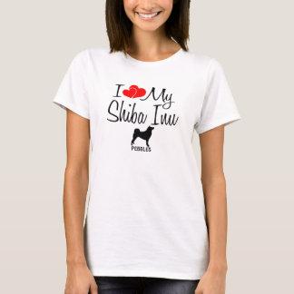 Custom I Love My Shiba Inu T-Shirt