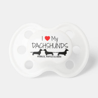 Custom I Love My Three Dachshunds Dummy