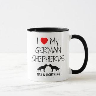 Custom I Love My Two German Shepherds