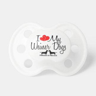 Custom I Love My Two Weiner Dogs Dummy