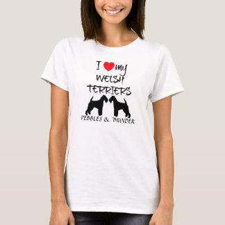 Custom I Love My Welsh Terriers T-Shirt