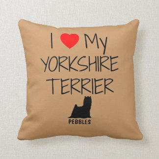 Custom I Love My Yorkshire Terrier Cushion