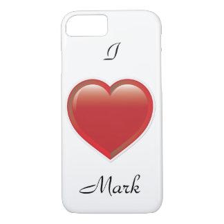 Custom I love you Heart iPhone 7 Case