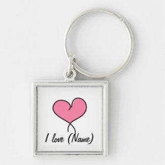 Custom I Love You! Key Chain