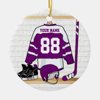 Custom Ice Hockey Jersey Round Ceramic Decoration