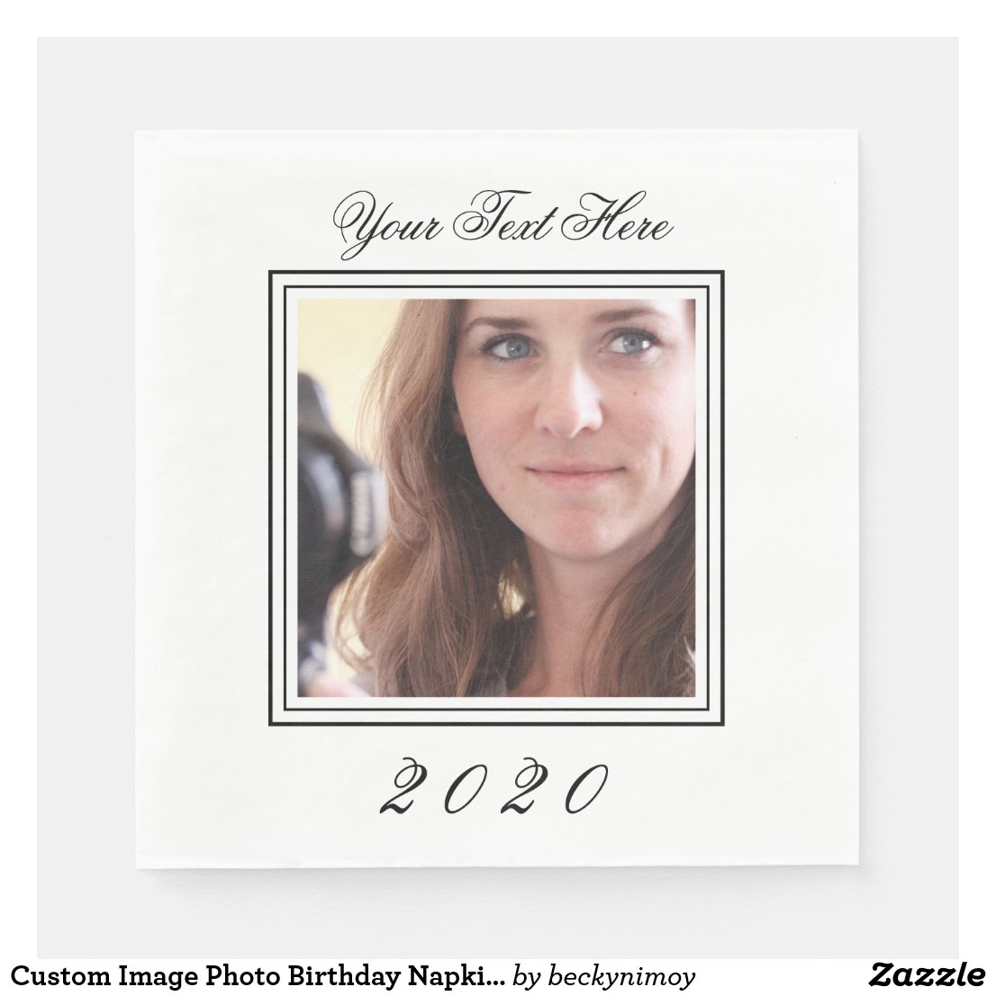 Custom Image Photo Birthday Napkins