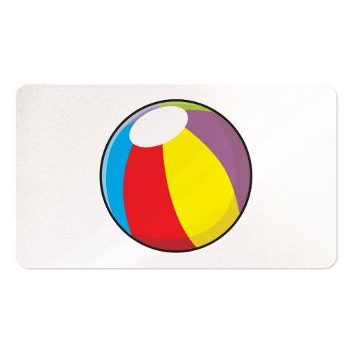 Custom Inflatable Plastic Beach Ball Invitations Business Cards