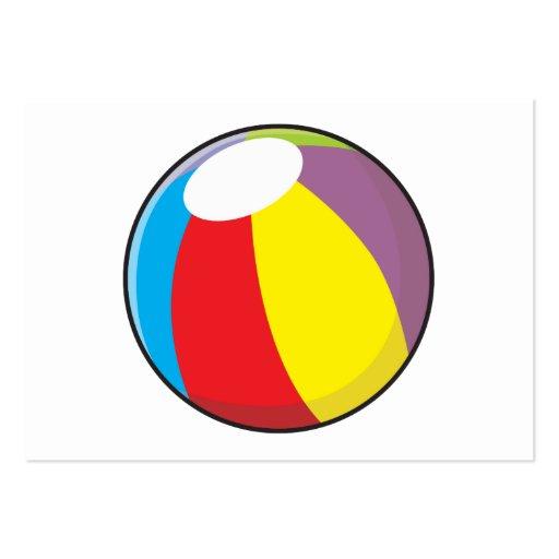 Custom Inflatable Plastic Beach Ball Invitations Business Card Templates
