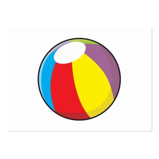 Custom Inflatable Plastic Beach Ball Invitations Business Card