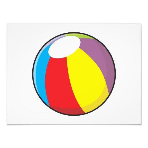 Custom Inflatable Plastic Beach Ball Invitations Photo Print