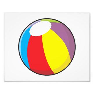 Custom Inflatable Plastic Beach Ball Invitations Photograph