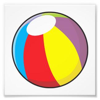 Custom Inflatable Plastic Beach Ball Invitations Photographic Print