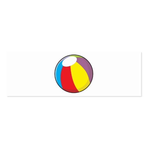 Custom Inflatable Plastic Beach Ball Mugs Buttons Business Card Template