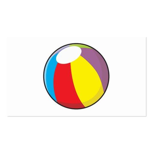 Custom Inflatable Plastic Beach Ball Pillows Pins Business Card Template