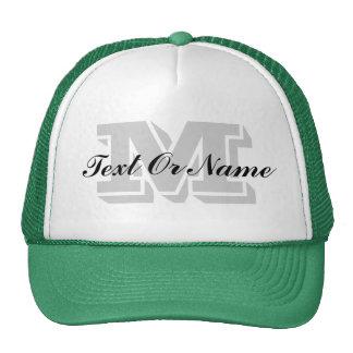 Custom Initial Monogram, Text Or Name Cap