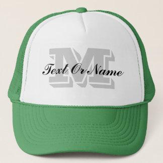 Custom Initial Monogram, Text Or Name Trucker Hat