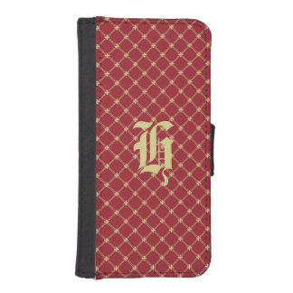 Custom Initial Tudor Red and Gold Pattern