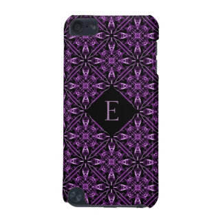 Custom Initial Victorian Purple Fractal Pattern iPod Touch (5th Generation) Cover