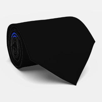 Custom Initials | Horizontal Thin Blue Line Police Tie
