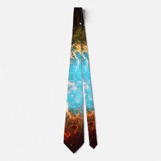 Custom initials / monogram Crab Nebula in Taurus Tie