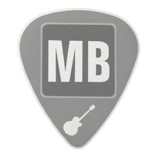 custom initials monogram music acetal guitar pick